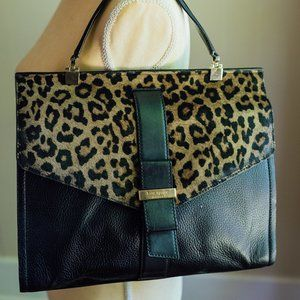 Kate Spade Taiden Black/Leopard Calf Fur Handbag